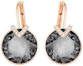 Swarovski NEW Bella V Pierced Large Grey Earrings