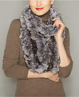 The Fur Vault Knitted Chinchilla Fur Infinity Scarf