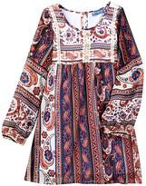 Truly Me Long Sleeve Empire Waist Print Dress (Little Girls & Big Girls)