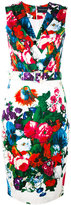 Samantha Sung floral print belted dress - women - Cotton/Spandex/Elastane - XS