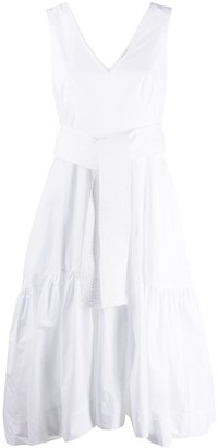 P.A.R.O.S.H. Belted Flared Dress