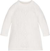 Monsoon Newborn Stephanie Sparkle Cable Knit Dress