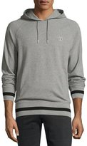 Fred Perry Striped Hooded Sweatshirt, Gray