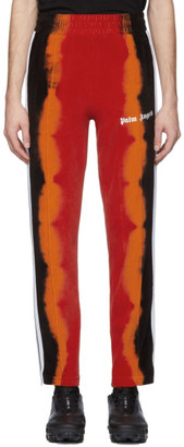 Palm Angels Black and Red Chenille Tie-Dye Lounge Pants