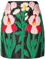 Gucci floral embroidered skirt
