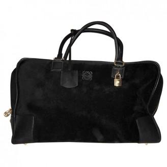 Loewe Amazona Black Leather Travel bags