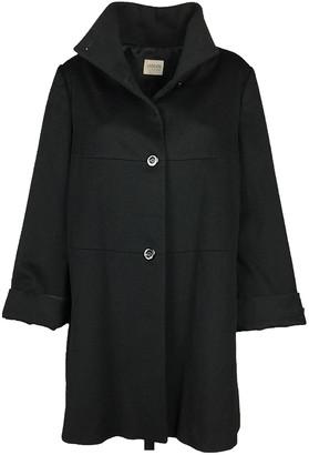 Armani Collezioni Black Wool Coats