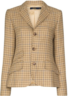 Polo Ralph Lauren Tweed Check-Pattern Blazer Jacket