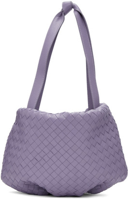 Bottega Veneta Purple Small Intrecciato Bulb Bag