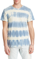 Denim & Supply Ralph Lauren Crew Neck Stripe T-shirt, Station Blue