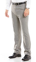 Roundtree & Yorke Big & Tall Travel Smart Non-Iron Classic-Fit Flat-Front Stretch Plaid Dress Pants