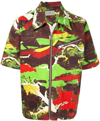 Necessity Sense Short-Sleeve Zipped Jacket