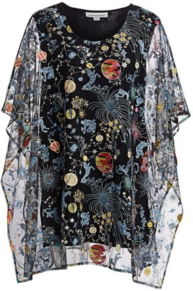 Caroline Rose, Plus Size Zodiac Embroidered Lined Caftan
