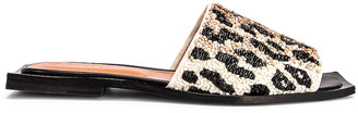 Ganni Slipper Sandal in Leopard | FWRD