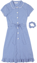 Marks and Spencer Girls' Pure Cotton Non-Iron Gingham Dress