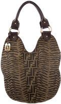Fendi Zucca & Zebra Print Hobo