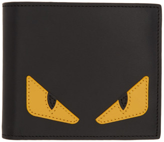 Fendi Black Bag Bugs Wallet