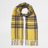 River Island Womens Yellow tartan check scarf