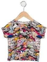 Kenzo Girls' Cartoon Print Top