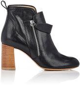 Chloé Women's Leather Double-Zip Boots-BLACK