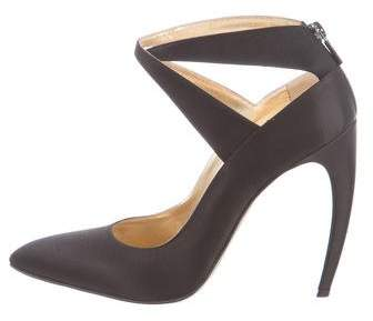 Walter Steiger Satin Crossover Pumps w/ Tags