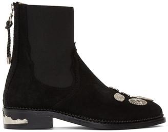Toga Pulla Black Suede Hardware Boots