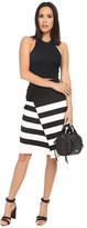 BB Dakota Portia Striped Ponte Faux Wrap Skirt
