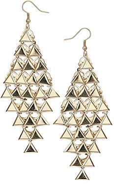 Dorothy Perkins Triangle drop earrings