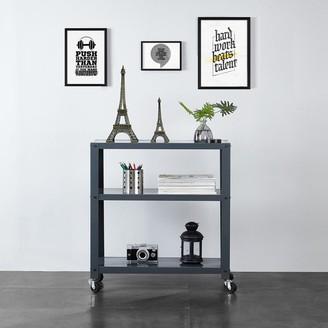 Idea Nuova 3-tier Blue/Grey/White Metal Bookcase