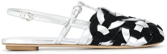 Prada Cord Detail Flat Sandals