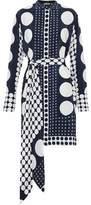 Diane von Furstenberg Belted Printed Silk Crepe De Chine Mini Dress