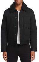 Rag & Bone Bartack Shearling-Collar Denim Trucker Jacket