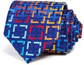 Robert Talbott Bright Interlocking Squares Classic Tie
