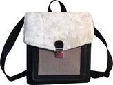 Women's SHARO Genuine Leather Bags Sheep/Canvas/Leather Backpack