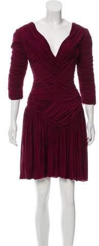 Burberry Ruched Midi Dress w/ Tags