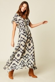 Stella Forest Long Dress in Printed Pattern - 36 (8)