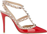 Valentino Women's Rockstud Caged Pumps-RED