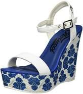 Fiorucci Women's Feei062 Flat platform blue Size: