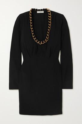 Givenchy Chain-embellished Crepe Mini Dress - Black