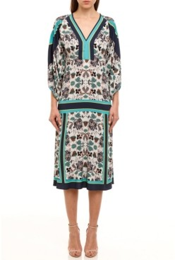 Colcci Nala Print Midi Dress