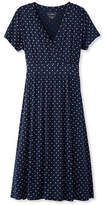 L.L. Bean Summer Knit Dress, Short-Sleeve Dot