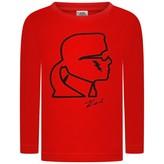 Karl Lagerfeld LagerfeldBoys Red Kameo Print Top
