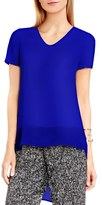 Vince Camuto Women's Shirttail V-Neck Top