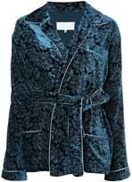 Maison Margiela belted embroidered jacket