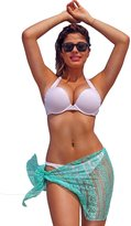 SHORE TRENDZ MINT Gorgeous LACE Sarong Cover-Up Wrap Pareo: Short Length