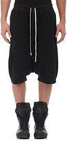 Rick Owens Men's Jersey Pod Shorts-BLACK