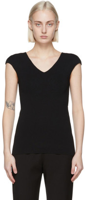 Totême Black Cap Sleeve T-Shirt