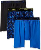 Hanes Men's Ultimate 3-Pack X-Temp Performance Assorted Boxer Briefs