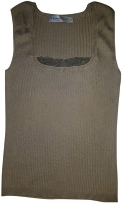 Christian Dior Beige Cashmere Tops