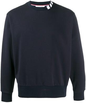 Thom Browne 4-Bar crew neck sweatshirt